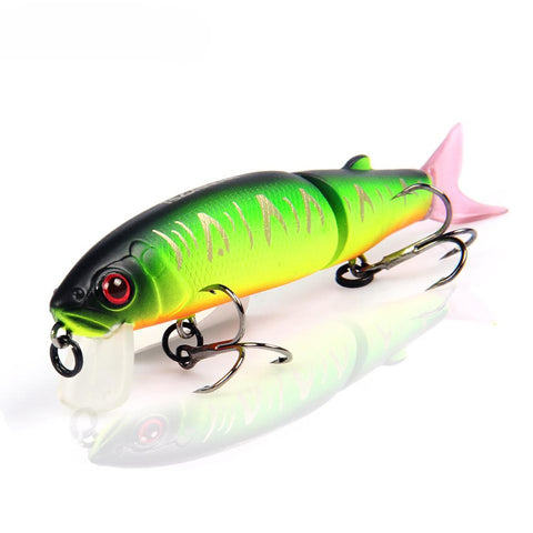 Bearking 2016good Fishing Lure Minnow Quality Professional Bait 11.3cm 13.7g Swim Jointed Equipped Black Or White Hook