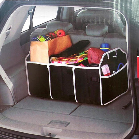 Collapsible Black Car Trunk Organizer Toys Food Storage Truck Cargo Container Bags Box Stowing Styling Auto Accessories