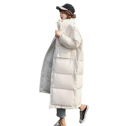 Jacket women winter parka thicken long coat oversized outerwear sleeve down cotton