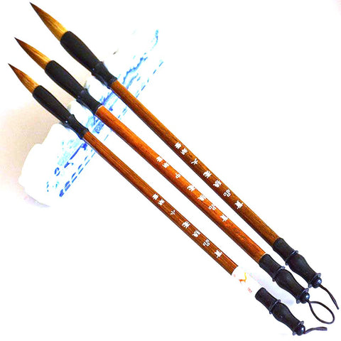 3pcs/set Excellent Quality Chinese Calligraphy Brushes Pen For Woolen And Weasel Hair Writing Brush Fit Student School