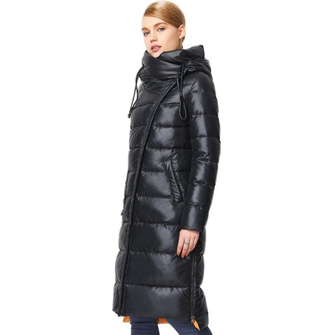 Jacket women's fashionable coat hooded warm bio fluff parka winter collection