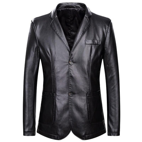 Jacket men's luxury fashion leather faux coat plus sized business night out