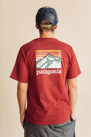 Men's Line Logo Ridge Pocket Responsibili-Tee - Barn Red