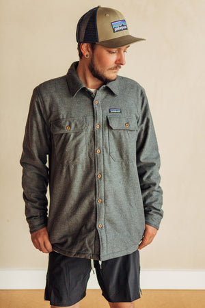 Insulated Fjord Flannel Jacket - Forge Grey