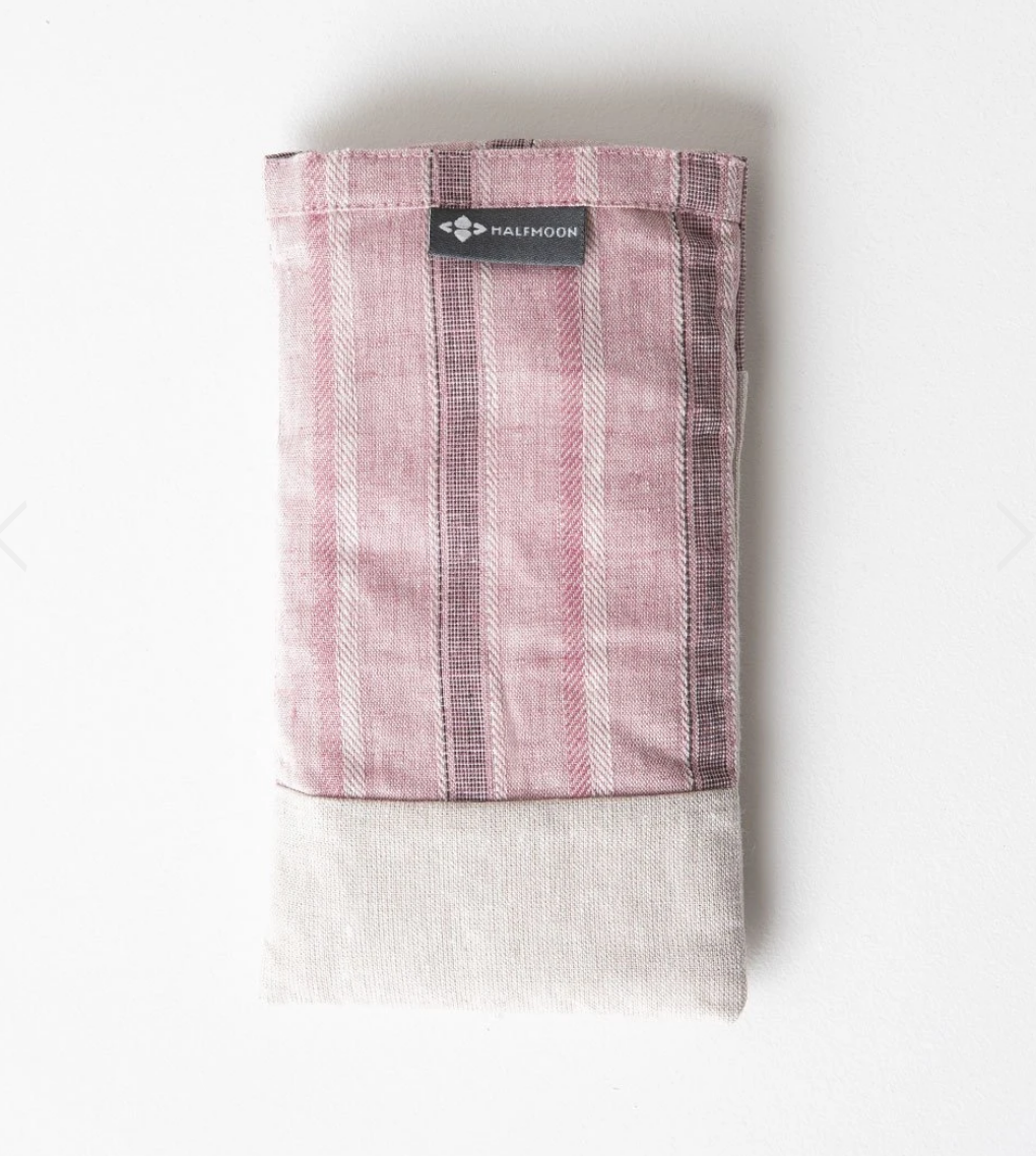 Linen Eye Pillow with Lavender - Vintage Rose Sand