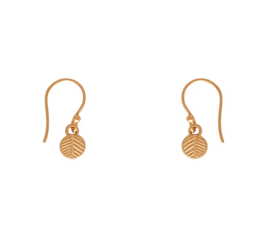 Palm Leaf Earrings - Short / Gold
