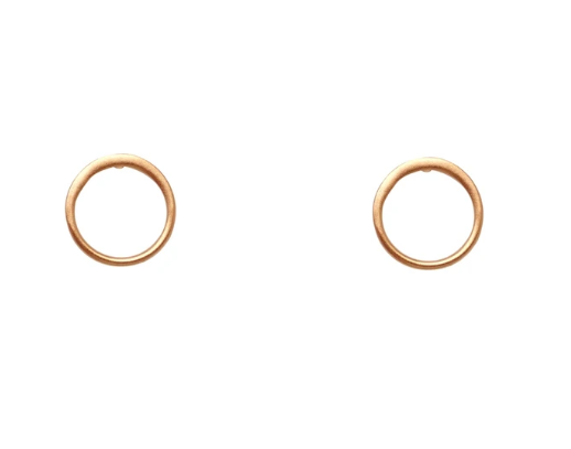 Post Earrings- Circle of Life Gold