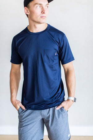 Tradewind Performance Tee - Navy