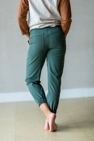 Women's Happy Hike Studio Pant-Kale Green