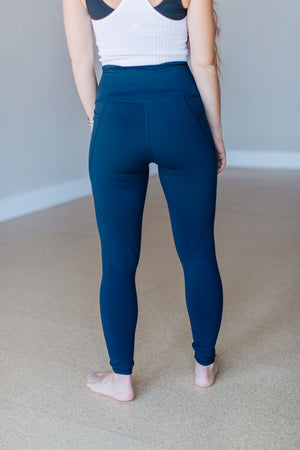 Tapered Band Essential Highwaist Legging - Dark Navy