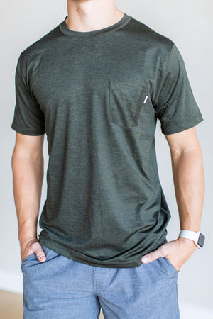 Tradewind Performance Tee - Evergreen