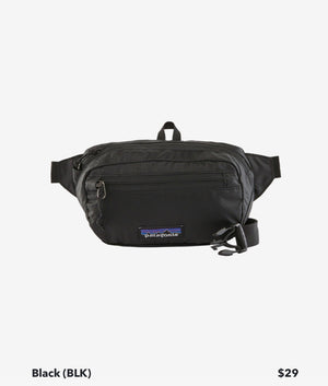 Ultralight Black Hole Hip Pack