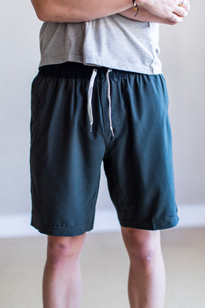 Kore Short—Evergreen/Black Stripe