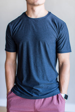Strato Tech Tee- Charcoal Heather