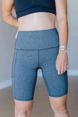 Tapered Band Essential  Bermuda Highwaist - Heather Grey