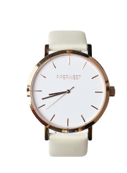 42MM VEGAN CLASSIC MINIMALIST ROSE GOLD / STONE