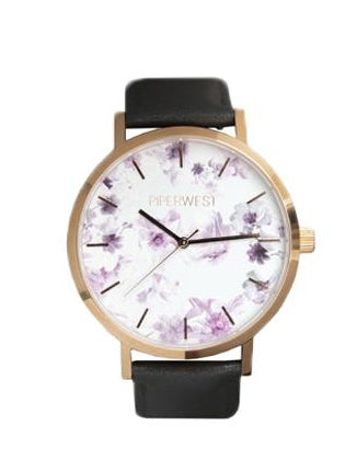 Floral Minimalist in Rose Gold & Charcoal