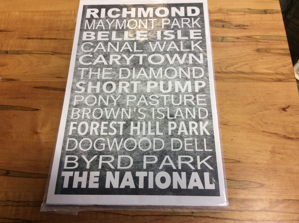 11 x 17 Richmond Subway Art (Grey)