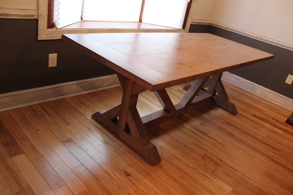 X-Trestle Farmhouse Table *MADE-TO-ORDER*