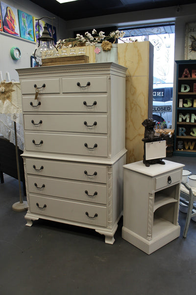 Light Grey reLOVEd Vintage Chest of Drawers