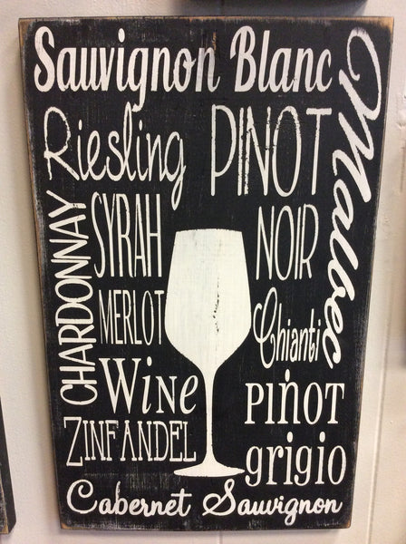 Wine Subway - Wood Sign