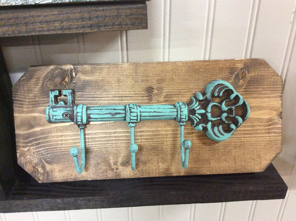 Skeleton Key Hanger on Wood