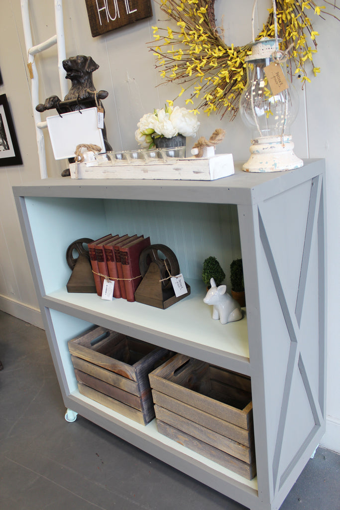 Handcrafted Short Bookshelf on Casters
