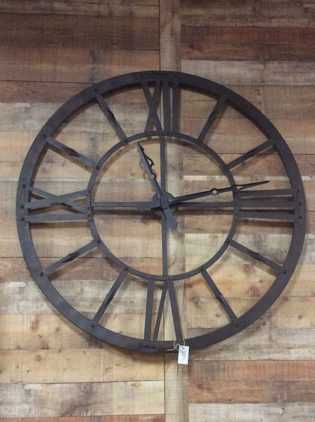 "48"" Rustic Industrial Metal Clock"