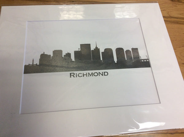 11 x 14 matted print of Richmond (Pewter)