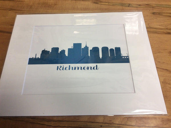 11 x 14 matted print of Richmond (Blue)
