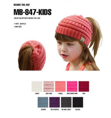 Kids CC Ponytail Beanie- Due in End of Dec
