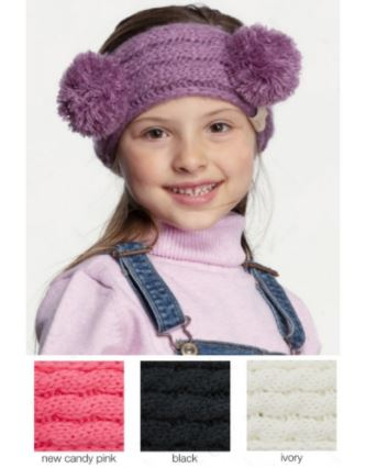 Double Pom CC Brand Kids Headwrap- Due in End of December