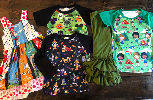 RTS 3t seuss, Halloween mickey, pants, scouts