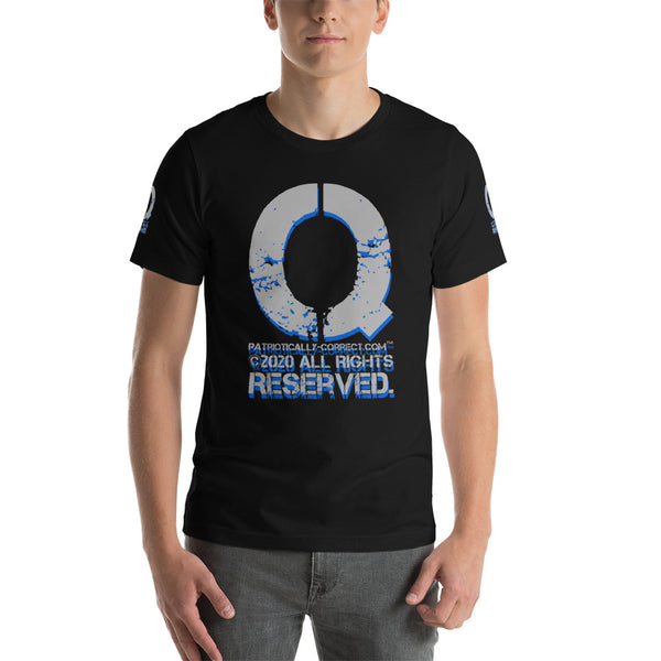 Q All Rights Reserved.  Short-Sleeve Unisex T-Shirt