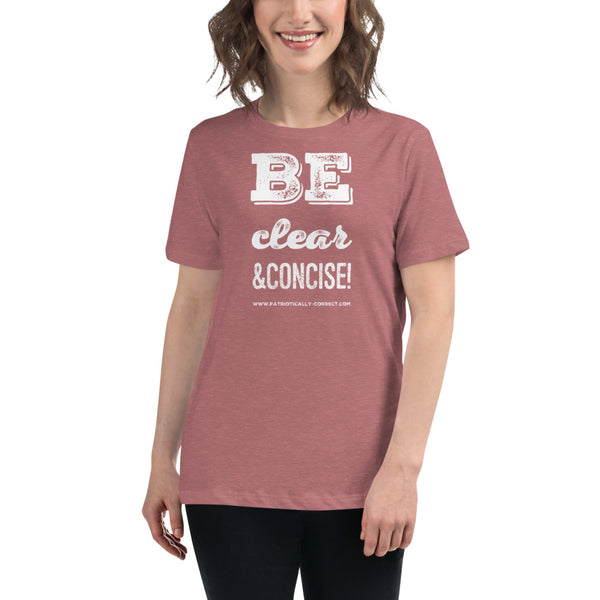 Clear and Concise Women's Relaxed T-Shirt