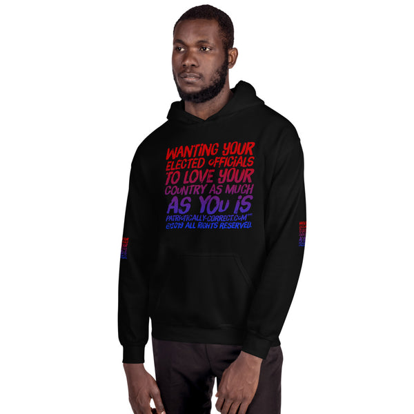 """Want your Elected Official to Love Your Country"" Unisex Hoodie"