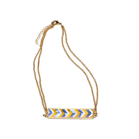 Valyn Necklace - Chevron