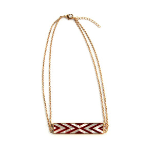 Valyn Necklace - Double Chevron