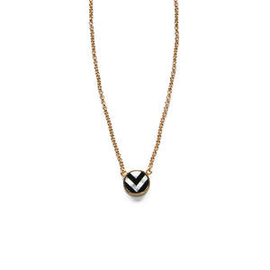 Carol Necklace - Black & White