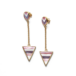Rhonda Earrings - Pink & Violet