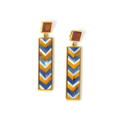 Sofia Earrings - Chevron - Susanne Verallo