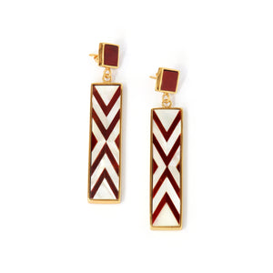 Sofia Earrings - Double Chevron