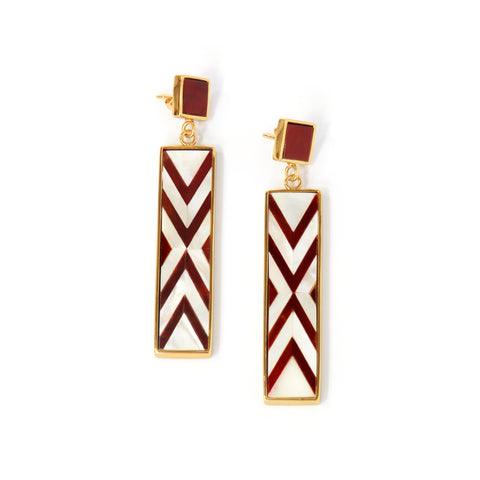 Sofia Earrings - Double Chevron - Susanne Verallo