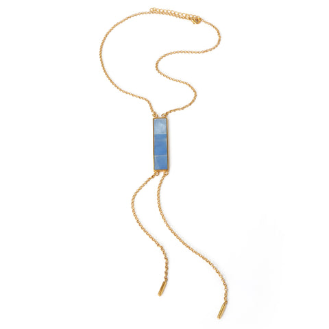Lariat Necklace - Blue - Susanne Verallo
