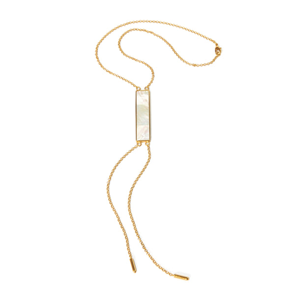 Lariat Necklace - Mother of pearl - Susanne Verallo