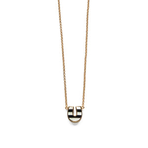 Lucky Necklace - Black & White