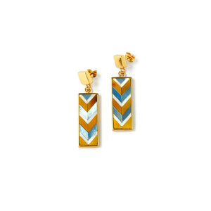 Sofia Mini Earrings - Chevron