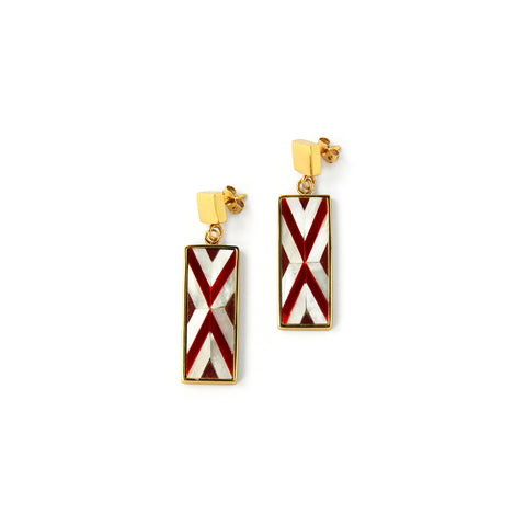 Sofia Mini Earrings - Double Chevron