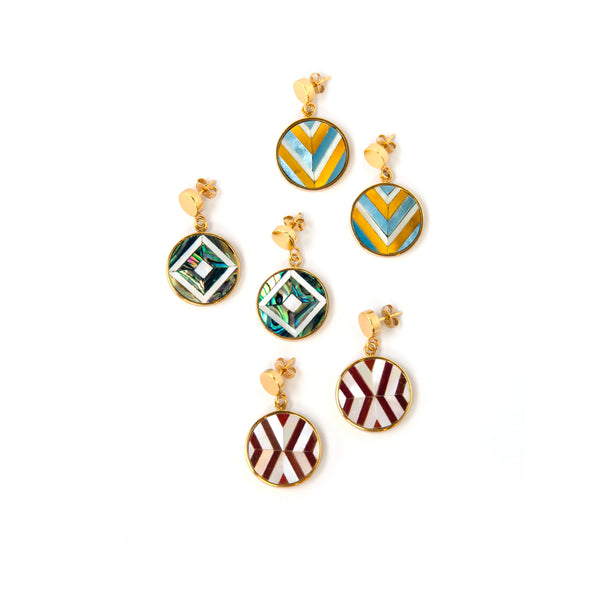 Vivian Mini Earrings - Double Chevron - Susanne Verallo
