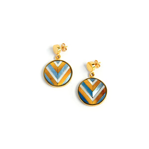 Vivian Mini Earrings - Chevron